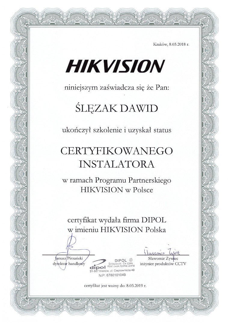 Dawid Ślęzak HIKVISION