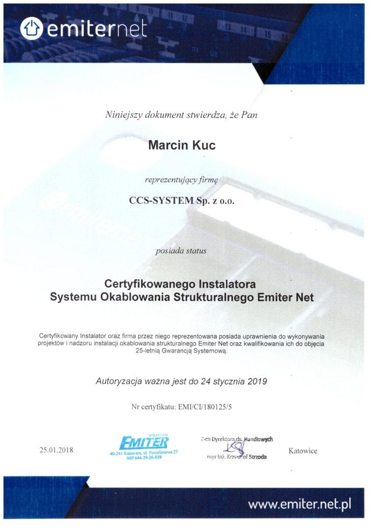 Certyfikat Emiter net
